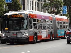 Muni Articulated Bus, Haight Street, San Francisco, California, USA, 4 September 2018 (AndrewDixon2812) Tags: sfmta muni bus articulated haight street ashbury san francisco usa california united states