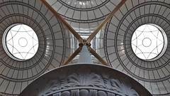 O X O (vincentag) Tags: paris france library bibliotheque nationale richelieu salle labrouste ceiling archs architecture