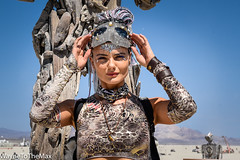 Driftwood Diva (WayneToTheMax) Tags: burning man 2018 diva driftwood sculpture robot wood jewel mask jungle beads cam0 camouflage desert sun fashion art glamour beauty nikon d750 heart tear playa