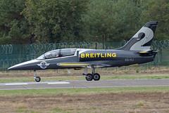 Breitling Jet Team Aero L-39 Albatros ES-YLI (2) (EK056) Tags: breitling jet team aero l39 albatros esyli 2 kleine brogel air base ebbl belgian force days 09092018