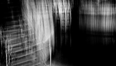 The lock II (Zara.B) Tags: intentionalcameramovement icm impression river lock blackandwhite slowshutterapp bw abstract dark light blur mobilephone