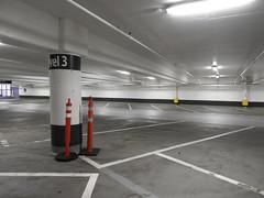 Level 3 (Drew Makepeace) Tags: pylon column concrete underground parkinglot parkade pillar fluorescent
