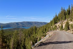Paulina Peak unpaved road as lake is seen (daveynin) Tags: caldera newberry nps oregon