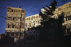 Sanaa-late afternoon (motohakone) Tags: jemen yemen arabia arabien dia slide digitalisiert digitized 1992 westasien westernasia ٱلْيَمَن alyaman