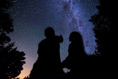 Under The Stars (C. Campbell) Tags: couple shoot romatic stars milkyway galaxy oregon eugeneoregon