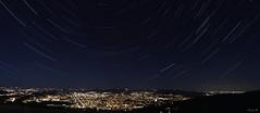 Panorama Filé d'etoiles Saint-Etienne (Pierre_Habig) Tags: night nuit étoiles star trail filé saintetienne saint etienne lyon forez pilat guizay nightscape cityscape étoile