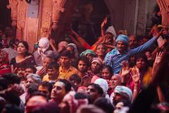 Crowd Inside Shri Banke Bihari Mandir, Vrindavan India (AdamCohn) Tags: abeer adamcohn bankebiharimandir hindu india shribankeybiharimandir vrindavan gulal holi pilgrim pilgrimage अबीर गुलाल होली