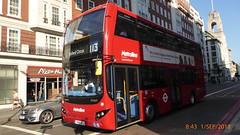 P1120832 VMH2436 LK18 AFJ at Baker Street Station Baker Street Marylebone London (LJ61 GXN (was LK60 HPJ)) Tags: metroline volvob5lhybrid mcvevoseti mcv evoseti 105m 10490mm vmh2437 lk18afj nb887