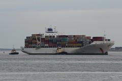 Safmarine Nomazwe (das boot 160) Tags: safmarinenomazwe boxboat container ships sea ship river rivermersey port docks docking dock boats boat mersey merseyshipping maritime