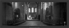 Ratzeburger Dom with 6x17 pinhole (Dierk Topp) Tags: bw berggerpancro400 dom realitysosubtle6×17 rodinal analog architecture architektur churches monochrom pinhole ratzeburg sw