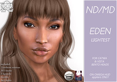 Eden skin display pic-lightest (Alea Lamont) Tags: ndmd ethnic skins black female woman african afro american women catwa bento vista head
