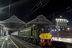 The William Shakespeare (DM47744) Tags: class 40 40013 d213 english electric train trains preston station whistler travel track loco wcml west coast mainline diesel engine locomotive railway railways railroad rail traction transport lancashire br green british