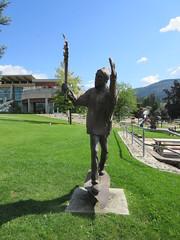 Torch Runner (jamica1) Tags: salmon arm shuswap bc british columbia canada torch runner sculpture statue