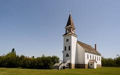 Bonne Madonne Catholic Church (TigerPal) Tags: saskatchewan sask lepine catholic church rural historic french dustyroad gravelroad ruraldecay forgotten