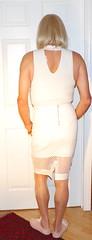 White bodysuit and skirt - 2 (donnacd) Tags: sissy tgirl tgurl dressing crossdress crossdresser cd travesti transgenre xdresser crossdressing feminization tranny tv ts feminized jumpsuit domina blouse satin lingerie touchy feely he she look 易装癖 シー