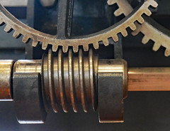 Gears in a machine for cutting 50-mm-diameter tubes, 1850 (Monceau) Tags: gear gears machine cutting 50mm tubes 1850 macro