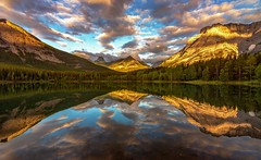 Wedge Pond Sunrise Reflections (Cole Chase Photography) Tags: kananaskiscountry alberta canada canadianrockies sunrise daybreak dawn clouds