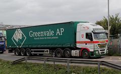 BG65FZT . Ely Station, Level Crossing , Cambridgeshire . Thursday 20th-September-2018 . (AndrewHA's) Tags: cambridgeshire ely truck lorry bg65fzt iveco stralis cab unit payne wyboston bedfordshire