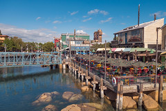 Pacific Wharf (kalikko) Tags: california cali disneyland disney californiaadventure santabarbara anaheim pacific wharf paradise pier