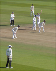 DM18-38 Eyes on the batsman (Dominic@Caterham) Tags: lords london cricket wicket shadows sunshine field players umpires grass middlesex derbyshire