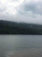 randolph lake 3 (GAWV) Tags: lake fog mountains randolph jennings clouds water railroad island trees rain bridge wv mineral vacation watershed waves ripples rocks