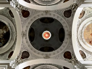 The dome of the parish church St. Mang in Füssen