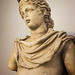 Closeup of Roman sculpture of Apollo from the 2nd century CE