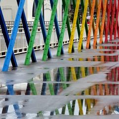 Aviles, Espagne - Spain (blafond) Tags: aviles pont passerelle bridge asturias asturies rainbowbridge pontarcenciel
