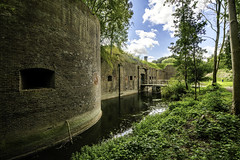Fort Vechten (Dannis van der Heiden) Tags: fort tree sky wood cloud brick wall canal moat gungates rain person bushes nikond750 d750 fortbijvechten fortvechten chimney water tokina1628mmf28 historic building brickbuilding bunnik nature bridge military fortress