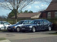 R260 GGR - BMW 316 and Y233 DMH - BMW 320 @ Byker (rustywing73) Tags: r260ggr bmw316 y233dmh bmw320 byker oldtimer banger bangers