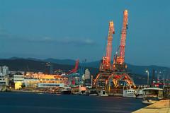 port_night (Rijeka u slikama) Tags: rijeka croatia hrvatska mololongo port cranes lights evening pentaxk7