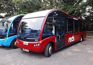 Ex Vectis Blue Optare Solo SR HW62CNO in new livery for Salisbury Reds at Carisbrooke 21 August 2018