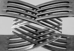 #245 Forks (tokyobogue) Tags: tokyo japan 365project nikon nikond7100 d7100 tokina tokina100mmf28atxprod macro reflection reflections fork mirror blackandwhite blackwhite monochrome