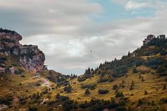 Equilibrium (portraitsbyandreapi) Tags: landscape nikon d810 35mm filmisnotdead equilibrium summer mountain sky colorgrading orange teal mountainside clouds rocks grass