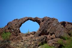 Whipple Mountains Arch and Saguaro... (simbajak) Tags: northofblythe saguaro cactus arch coloradoriver california