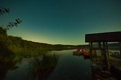 Mondnacht am Laacher See (clemensgilles) Tags: moonshine moonlight night nachtfotografie vulkan lake see eifel germany beautiful steg