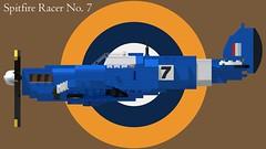 Supermarine Spitfire Mk I - Racer No 7 - 02 (Lt. SPAZ) Tags: lego supermarine spitfire wwii allies raf mk i aircraft fighter airplane british