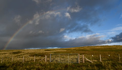 Half a Rainbow (Jamesylittle) Tags: rainbow sun rain storm fell hill top gate