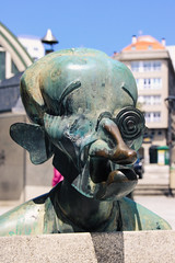 Curious Characters in Praza do Humor (Yuri Dedulin) Tags: culture eu europe history lacoruna oldcity spain travel yuridedulin coruña coruna galiciatravel tourist attraction tourism prazadohumor plaza humor humorists comedian characters curious drawings writers sculptors bust fun unique square old town oldtown sightseeing attractions 2018 yuri dedulin lacoruña acoruna