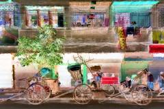 India - West Bengal - Kolkata - Rickshaw - 78bb (asienman) Tags: india westbengal kolkata rickshaw asienmanphotography asienmanphotoart asienmanpaintography