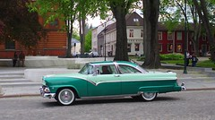 Fairlane Victoria (sfryers) Tags: 1955 ford fairlane victoria coupe classic american car street trondheim norway smc pentaxfa 35mm 12