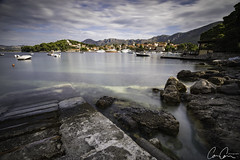 Cavtat Morning ([CamCam]) Tags: cavtat croatia harbour boat mountain mountains long exposure