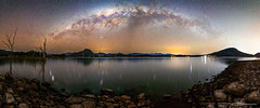 Milky Way over Lake Moogerah (tony.liu.photography) Tags: milkyway astro stars space astrophotography landscape panorama pano lake canon 5d4 sigma 14mm moogerah queensland australia