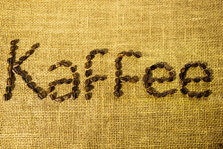 Kaffee Written with Grains