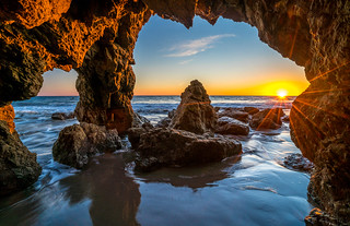 Sony A7RII Fine Art!  Super Sharp Sony 16-35mm Vario-Tessar T FE F4 ZA OSS!  Malibu Seacave Sunsets Fine Art! HDR Landscape Photos! Dr. Elliot McGucken Fine Art Photography!