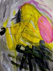 The Raincoat (giveawayboy) Tags: pencil ballpoint pen marker sharpie acrylic paint painting water eraser art fch tampa artist giveawayboy billrogers raincoat wmotf abstract expressionism drawing sketch