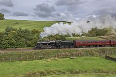 A Brief Pass (4486Merlin) Tags: 48151 england europe exlms lms8fbigeight northwest northyorkshire railways steam transport unitedkingdom settle gbr briefencountersteamspecial carnforthstationheritagecentre wcrc carrbeck giggleswick