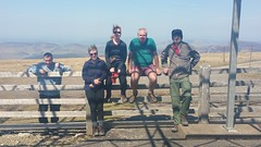 Broad Law With The Guys. Happy Days! (PointyPeakLover) Tags: landscape people group hills happy