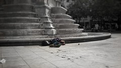 What is wrong with today's world... (vincentag) Tags: paris france life scenes street beggar sleeping