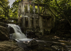 The Ghost of What Once Was (Kevin Tataryn) Tags: abandoned carbide mill waterfall century old ruins nikon d500 1755 longexposure landscape quebec canada hidden forest park gatineau